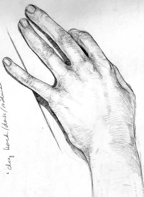 Dibujo de una mano