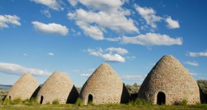 Historic charcoal ovens near Ely