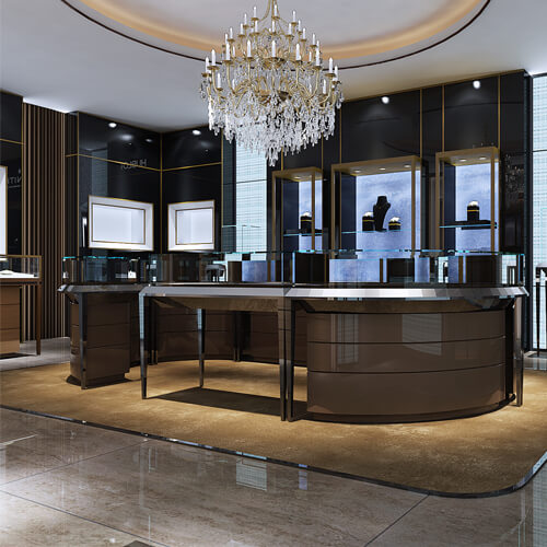 Jewellery store design ideas with jewelry showcase  Guangzhou Pinzhi Display Manufacturer
