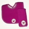 Set de babita y babero violeta
