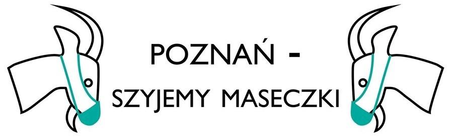 Plakat promujący akcję Poznań - szyjemy maseczki