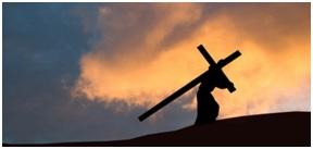 Na zdjęciu Chrystus dźwigający krzyż