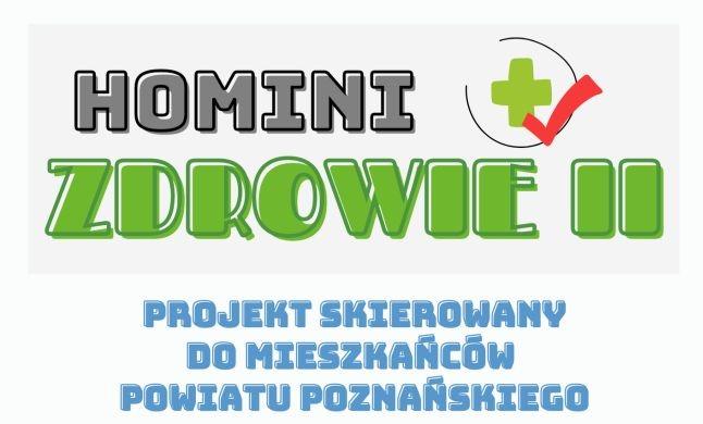 Plakat promujący projekt Homini+Zdrowie II.