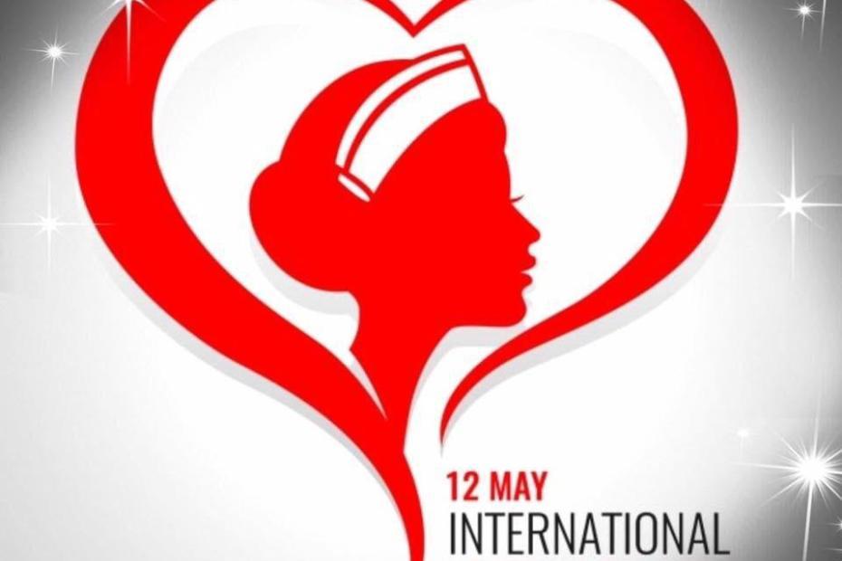 Grafika promująca Międzynarodowy Dzień Pielęgniarek i Położnych