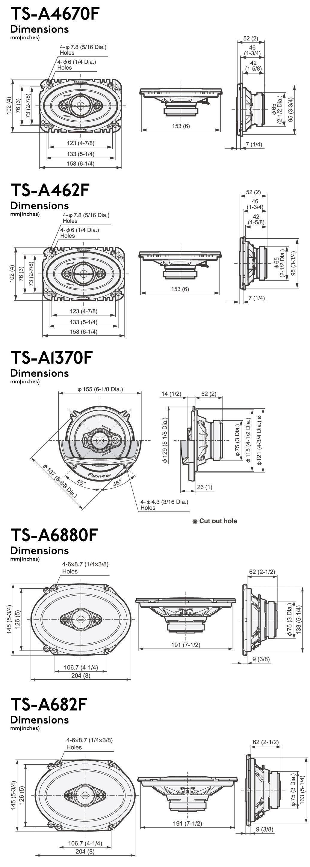 Pioneer A Series Speakers
