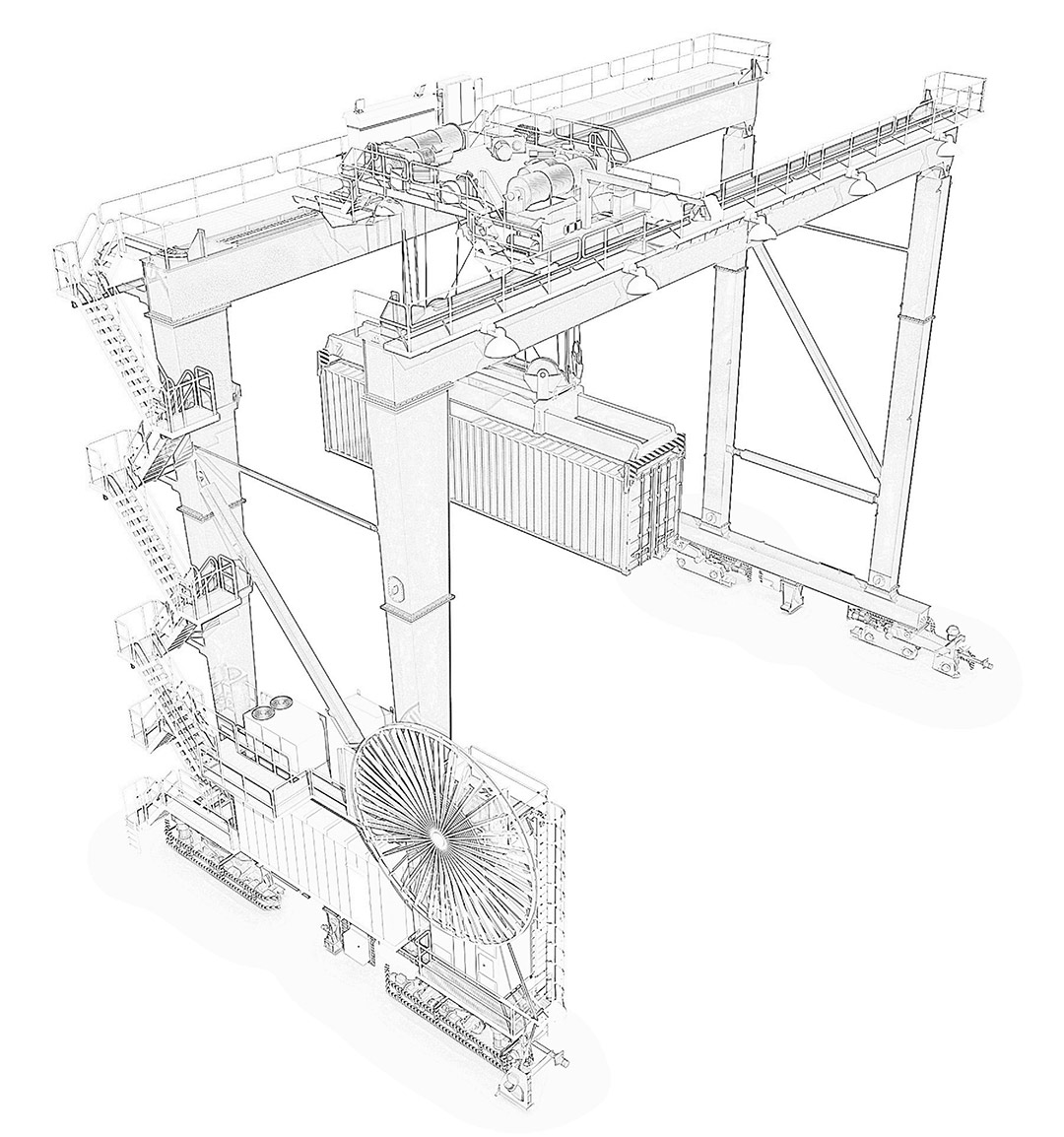 hight resolution of goliath cranes gantry cranes diagram