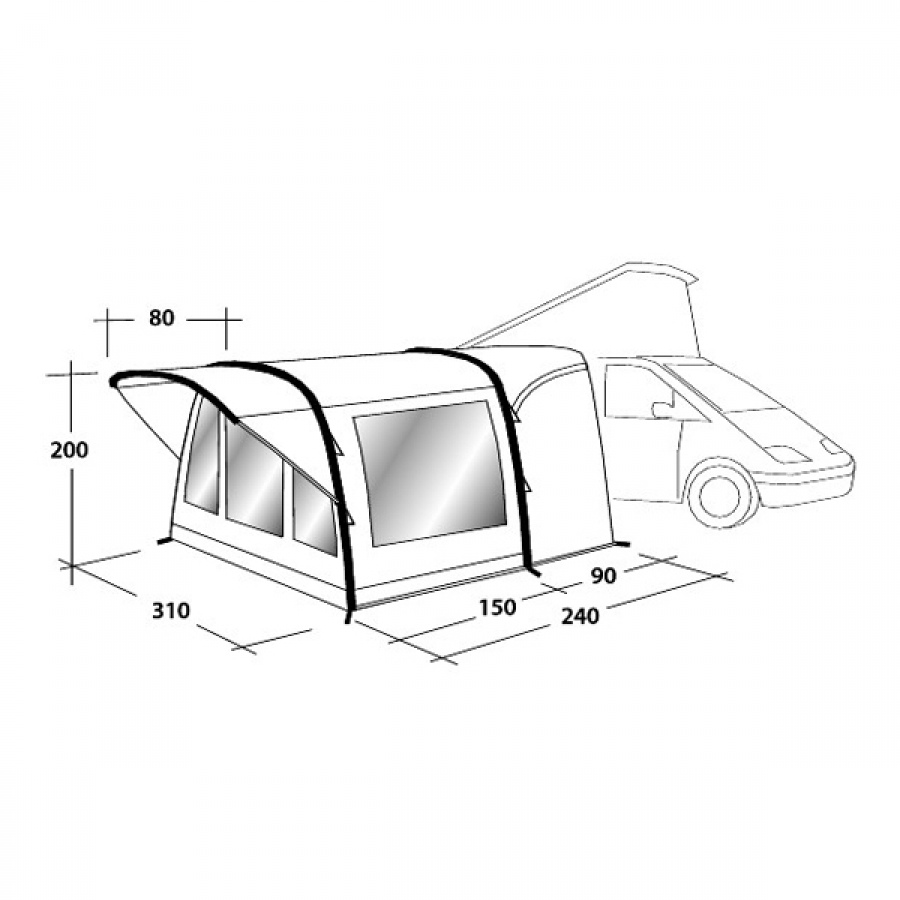 Outwell Darlington Air Awning