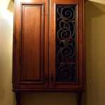 Tableaux Faux wrought iron cabinet insert