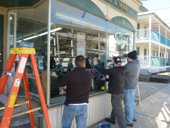 Storefront Commercial Glass installation