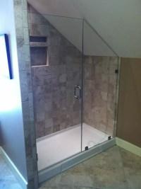 Elegant Sloped Ceiling Shower Ideas Images