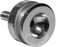 Heavy Glass Knobs - Recessed Finger Pull - Part Picture