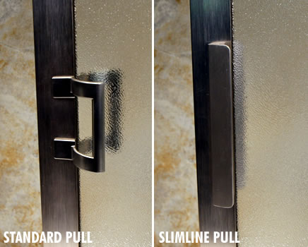 Pull - Craftsman Sliding Enclosure - Slimline vs. Standard