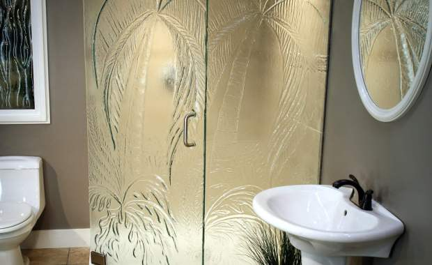 Cast Glass Shower Enclosure - Neo - Palm