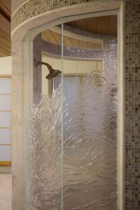 Cast Glass Shower Enclosure - Ultimate Optique