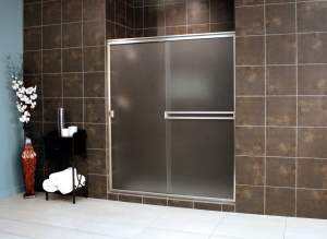 Thin Glass Pattern Shower Enclosures - Obscure, shower enclosure example