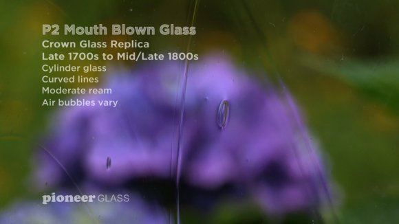 P2 mouth blown crown glass