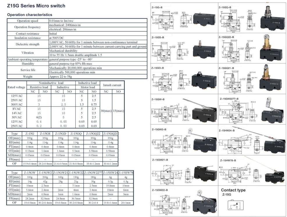 LS-Z-15HW78-B MICRO SWITCH