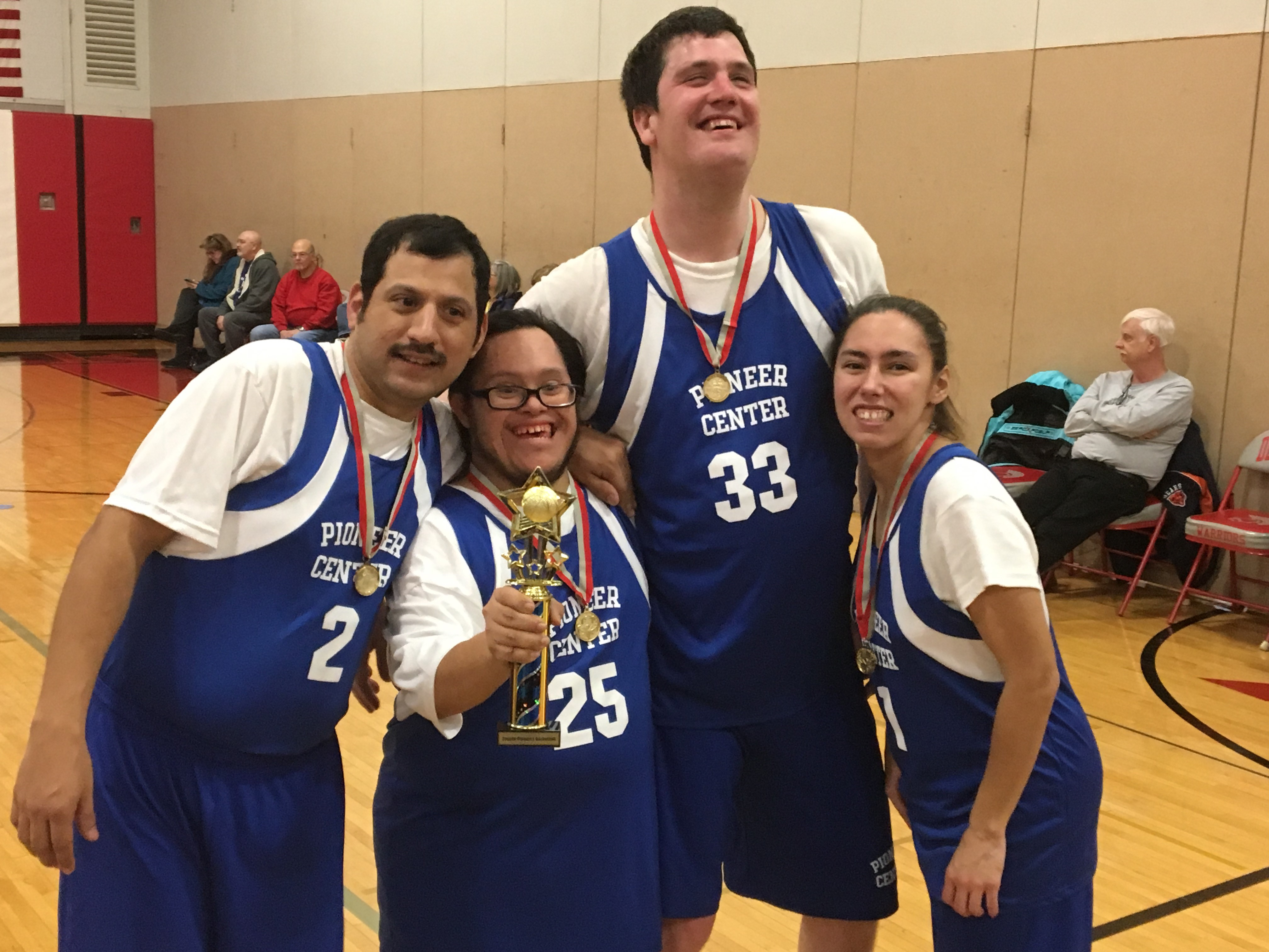 Pioneer Center Special Olympics Basketball Teams Win GOLD