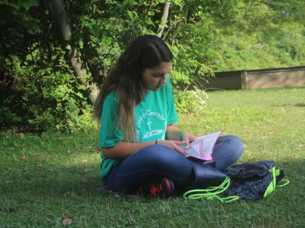 Camp Cherith Western New York Girl Reading Bible