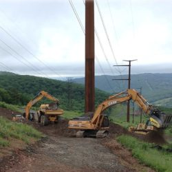 Powerline Construction by Pioneer Construction Company Inc. located in Honesdale, PA serving all of Pennsylvania