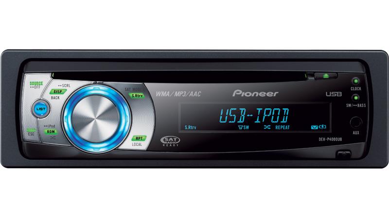 DEH P4000UB Récepteur CD à écran EL Organique Commande USB