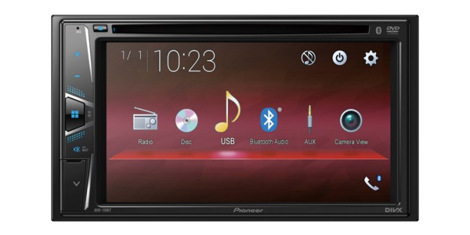 "avh110bt  pioneer avh110bt dvd 62"" screen doubledin"