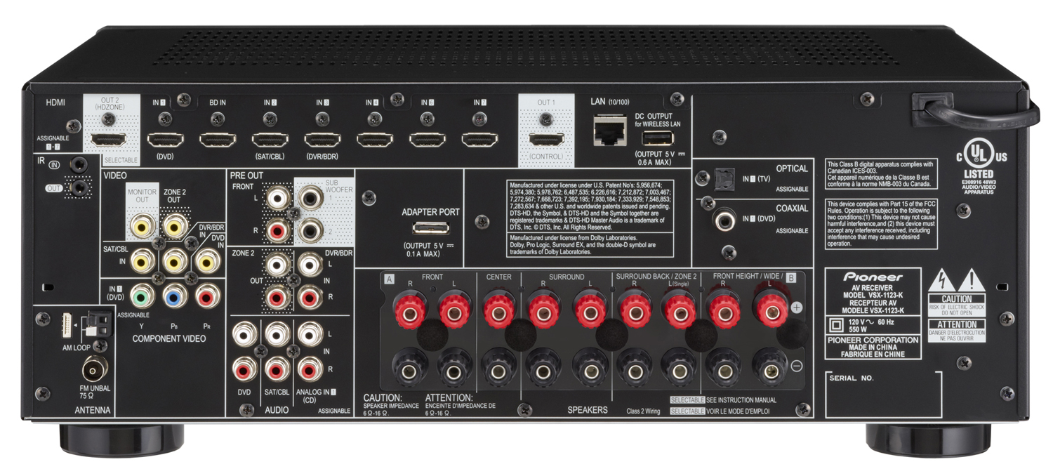 2 channel and 4 speakers 220v single phase wiring diagram a/v receivers | pioneer electronics usa