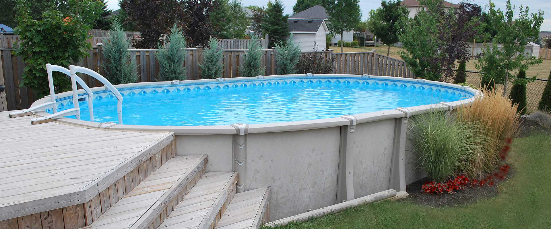 Above Ground Pools  Resin  Steel  Pioneer Family Pools