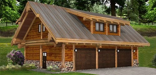 Log Garages And Barns Floor Plans Bc Canada