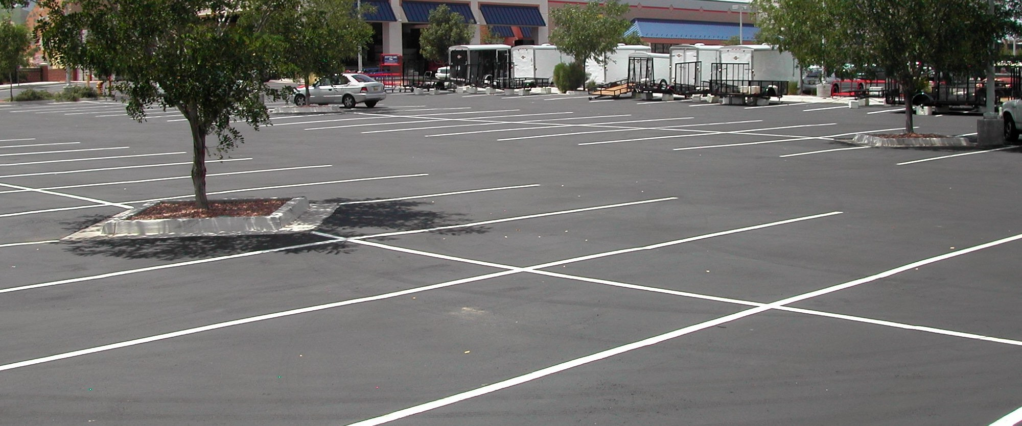 parking lot seal coating - after
