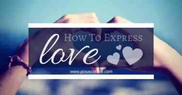 How To Express love