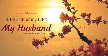 SHELTER of my LIFE my husband