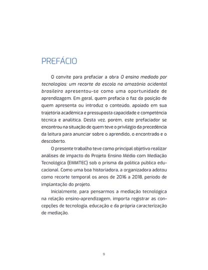 O ensino mediado por tecnologias: um recorte da escola na amazônia ocidental brasileira.