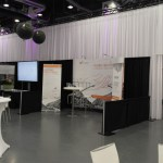 exhibition wall drapes and stand