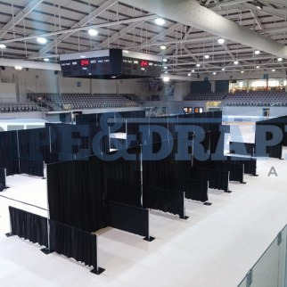 Exhibition Stand Building PIPE AND DRAPE BLACK EXPO STANDS