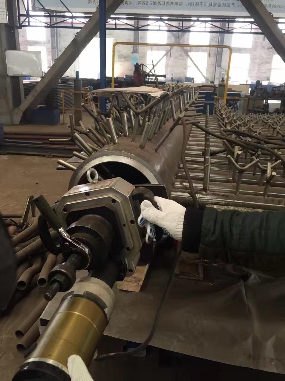 Chemical Plant Tube Chamfering Machine , Automatic Electric Pipe Cutting Machine