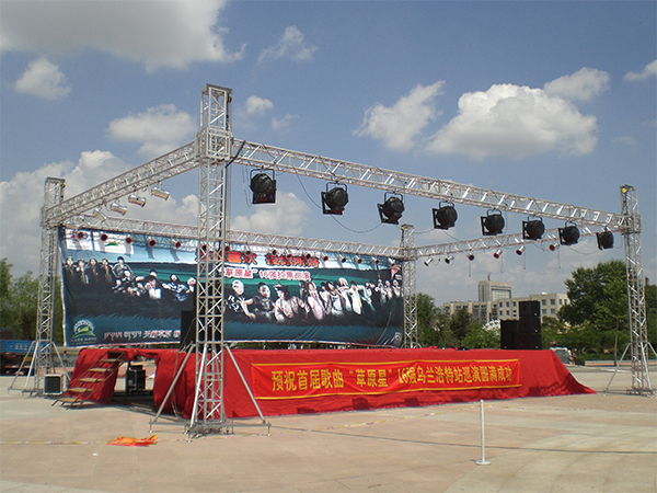 portable stage and truss system event