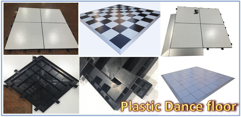 RK PVC dance floor of surface and back