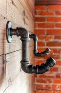 INDUSTRIAL VINTAGE STYLE COAT HOOK  WALL MOUNTED WITH ...