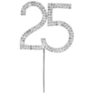 Diamante Number Cake Pick 25