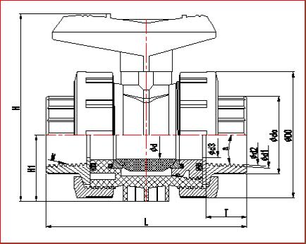 Roscado de PVC fábrica Manual de válvula de bola Unión