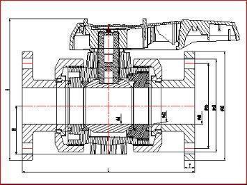 Válvula de bola con bridas de PVC DIN estándar de ASTM