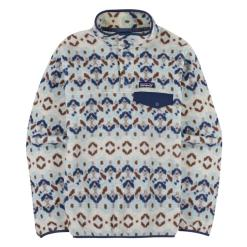 Patagonia Lightweight Synchilla Snap-T Fleece Pullover Tundra Cluster: Big Sky Blue TCBS