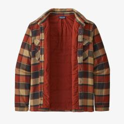 Patagonia Insulated Fjord Flannel Jacket Plots: Burnished Red PBRD