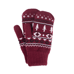 Nikin TreeGloves Thumb Norwegian Bordeaux Black White