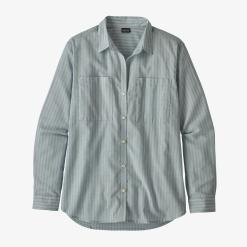 Patagonia Lightweight A/C Buttondown Simple Dimple: Berlin Blue SDBE