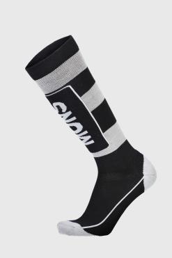Mons Royale Mens Mons Tech Cushion Sock Black/Grey