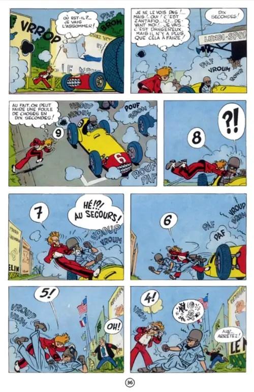 Spirou p36 car race gags