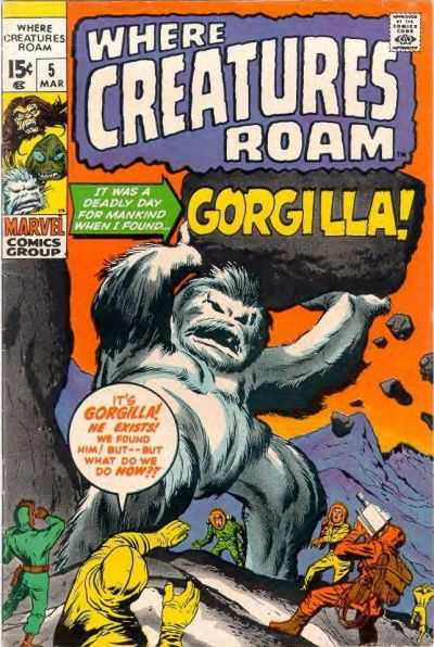 Jack Kirby Gorgilla monster cover