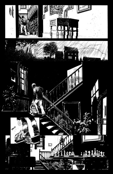 A small example of Sean Gordon Murphy's black and white line art